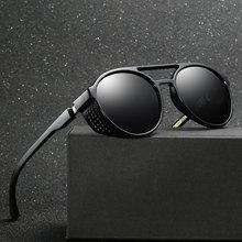 Retro redondo hueco Steampunk gafas de sol Vintage hombres gafas de sol Steampunk gafas de sol clásicas gafas de sol de doble viga