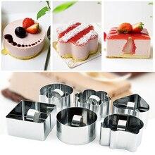 Инструмент для салата, сыра, форма для кекса, сделай сам, горячая распродажа, нержавеющая сталь, формы для выпечки, инструменты для выпечки, 1 шт., форма для выпечки муссов, кольцо для десерта