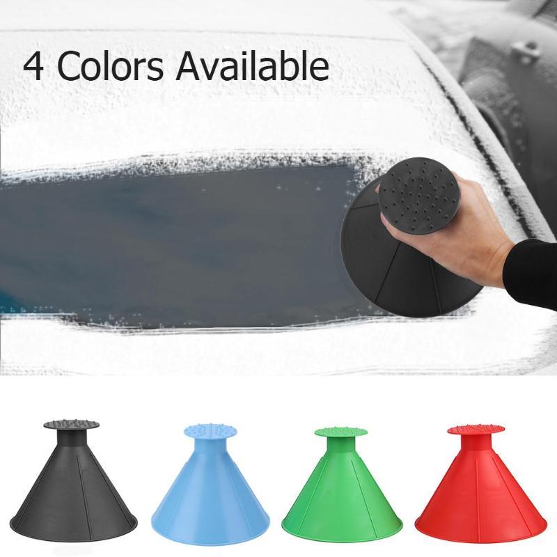 Removable Magic Shovel Cone Shaped Outdoor Winter Car Windshield Ice Scraper Funnel Auto Glass Scraper Ice Snow Remover Tool