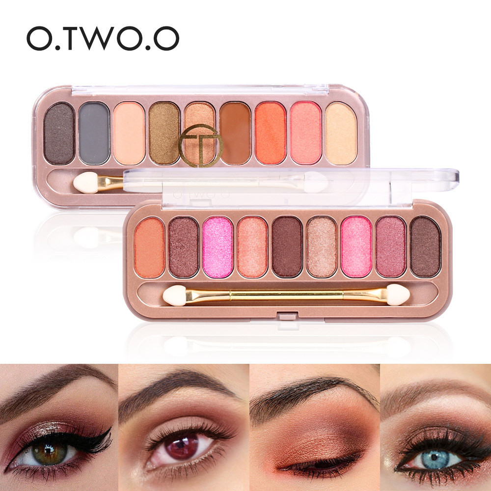 9 Colors Palette Eyeshadow With Brush Make Up Eye Shadow Matte Makeup Long Lasting Shimmer Glamorous Smokey Eye Shadow in Eye Shadow from Beauty Health
