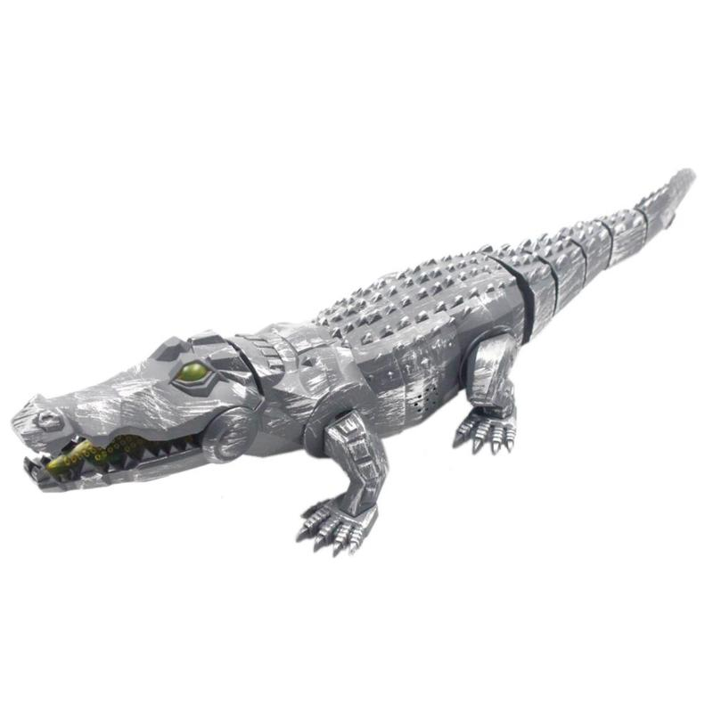 Electronic Animal Mechanical Toy Children Interactive Toys With LED Light Sound Gift For Kids Simulated Crocodile Walking Toys