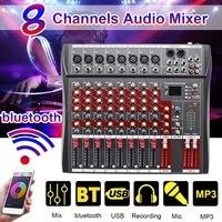 Professional 8 канальный микшерный пульт DJ звук с bluetooth запись для студий с живым звуком микшерный пульт караоке 48 В Phantom мощность разъем USB