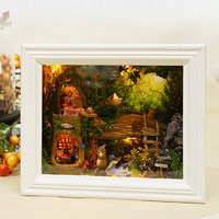 KidsDIY Handcraft Miniature Project Kit Squirrel/Wood House Frame Dollhouse Toy
