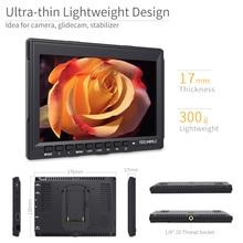 FEELWORLD FW759 7 inch DSLR Camera Field Monitor 4K HDMI AV Input IPS HD 1280×800 LCD Display Video Assist for Sony Nikon Canon