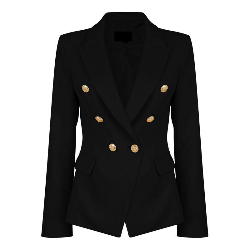 Ladies Black Feminino Formal Jacket Women Short Slim White Jackets Female Long-Sleeve Business Suit WS2509C