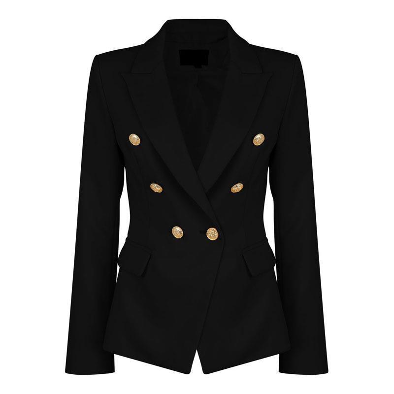 Ladies Black Feminino Formal Jacket Women Short Slim White Jackets Female Long-Sleeve Business Suit WS2509C