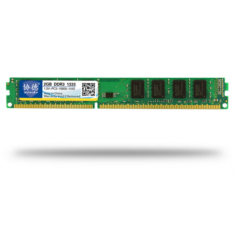 Xiede Desktop Computer Memory <font><b>Ram</b></font> Module <font><b>Ddr3</b></font> <font><b>1333</b></font> <font><b>Pc3</b></font>-<font><b>10600</b></font> 240Pin Dimm 1333Mhz For Amd/Inter image