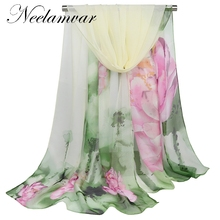 2019 chiffon scarf womens silk summer sunscreen spring and autumn accessories polyester cape