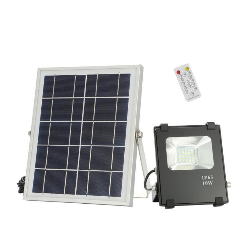 10W Solar Powered 25LED Flood Light IR Remote Controlled IP65 Waterproof Design Garden Street Lamp 5V
