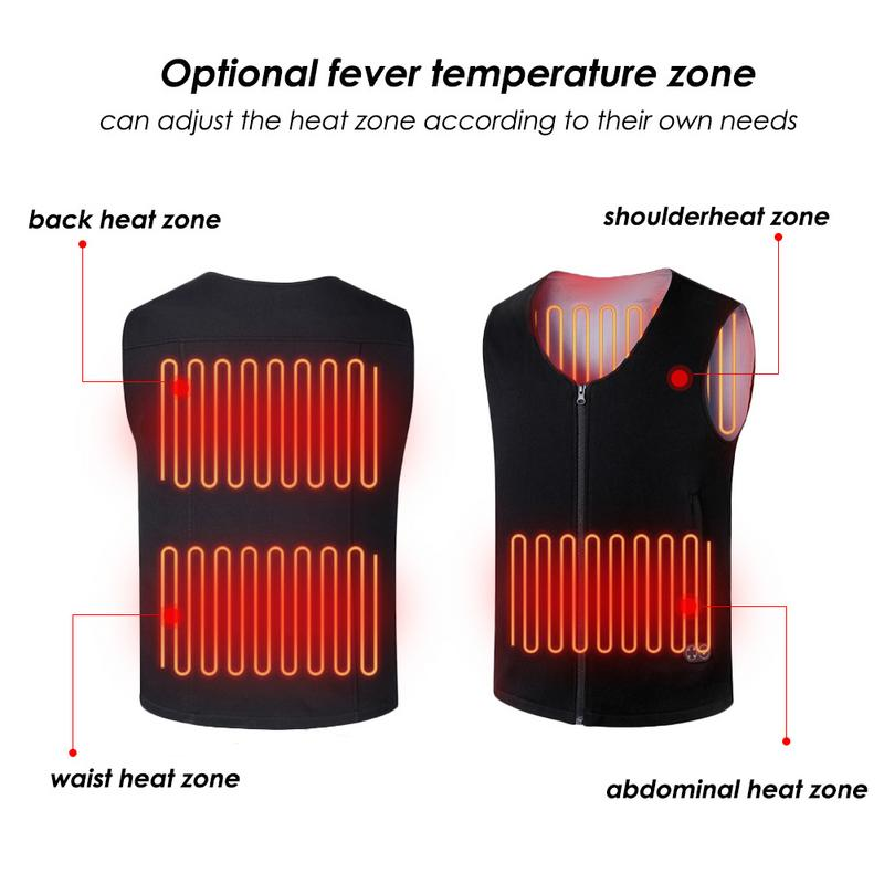 USB Charging Heating Cold Warm Electric Heated Vest Jacket Coat Sports Outdoors Skiing Skating Electric Heated