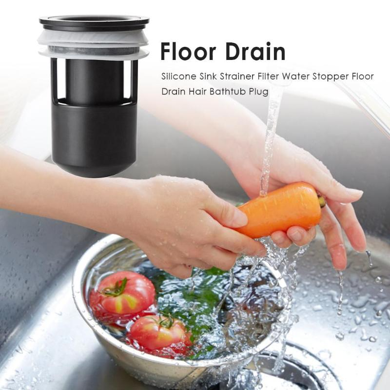 Silicone Sink Strainer Filter Water Stopper Floor Drain Hair Bathtub Plug Deodorization Insect Proof Floor Drains