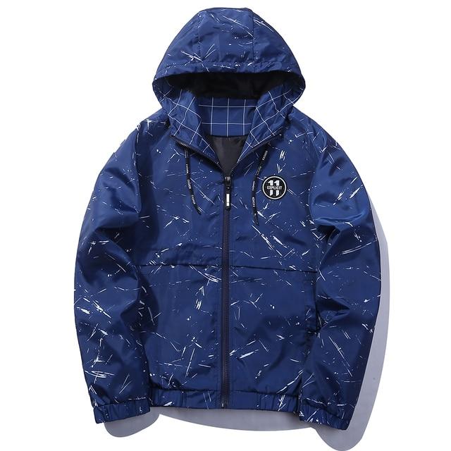98873c68bf US $31.05  Black Blue Skateboard Fashion Design Bomber Jacket For Men Parka  Hommes Zipper Hooded Windbreaker Jacket US Size-in Jackets from Men's ...
