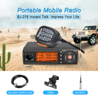 Mini Car Radio Walkie Talkie 25W Dual Band Dual Display VHF/UHF Mobile Radio Station Ham Radios Comunicator Transceiver telsiz