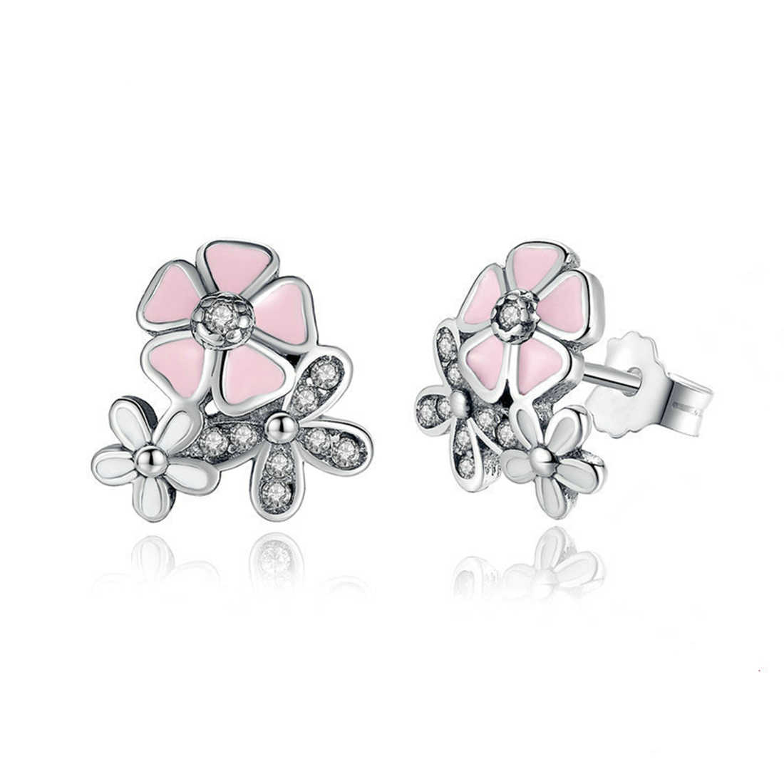 Jiayiqi 2019 New Ear Studs Jewelry Silver Earrings Flower Flower Earrings For Women