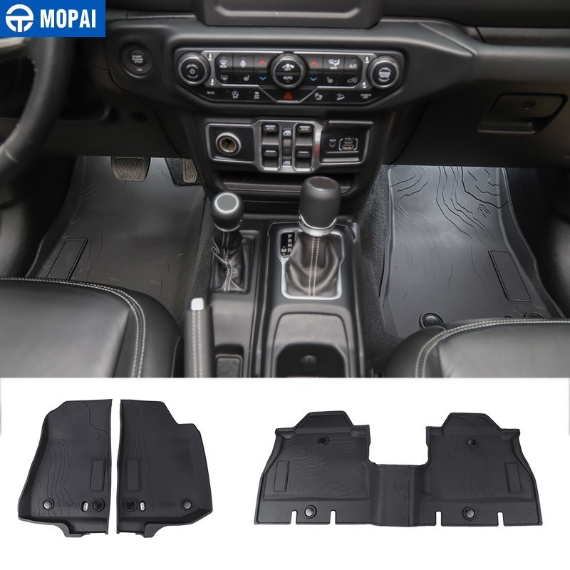 Car-Floor-Mats Car-Accessories Wrangler Jeep Jl Styling for Cargo-Liner-Pad TPE MOPAI title=