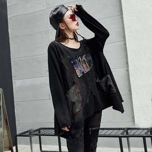 Image 4 - Max LuLu 2019 Luxury Korean Harajuku Ladies Spring Tops Tee Womens Printed T Shirt Vintage Punk Clothes Female Black Long Tshirt