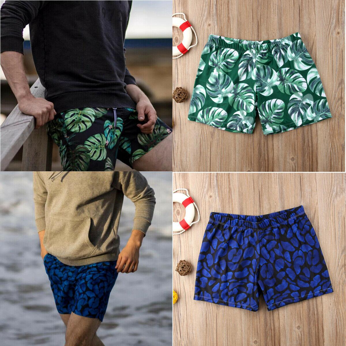 Fashion Summer Men Boy  Casual Print Swimming Board Trunks Swim Surfer Shorts Swimwear Beachwear