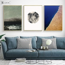 The Mediterranean Sea Waves Nordic On Sale Poster Wall Painting Living Room Abstract Canvas Art Pictures For Home Decor No Frame