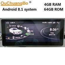 Ouchuangbo 10,25 дюйма Android 8,1 Автомобильная магнитола для A6 2005-2012 с зеркало с Навигатором GPS ссылка Wi-Fi 8 core 4 Гб и 64 ГБ