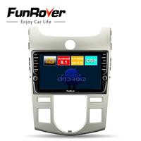 Funrover android 8.1 octa core car dvd multimedia player For Kia Forte Cerato Koup 2008 2012 radio gps navigation 4G+64G DSP LTE