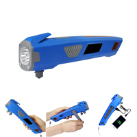 XANES 3 in 1 U23 USB Rechargeable Hand Crank LED Flashlight Safty Hammer Power Bank LED Flashlights Hand generation Lighting