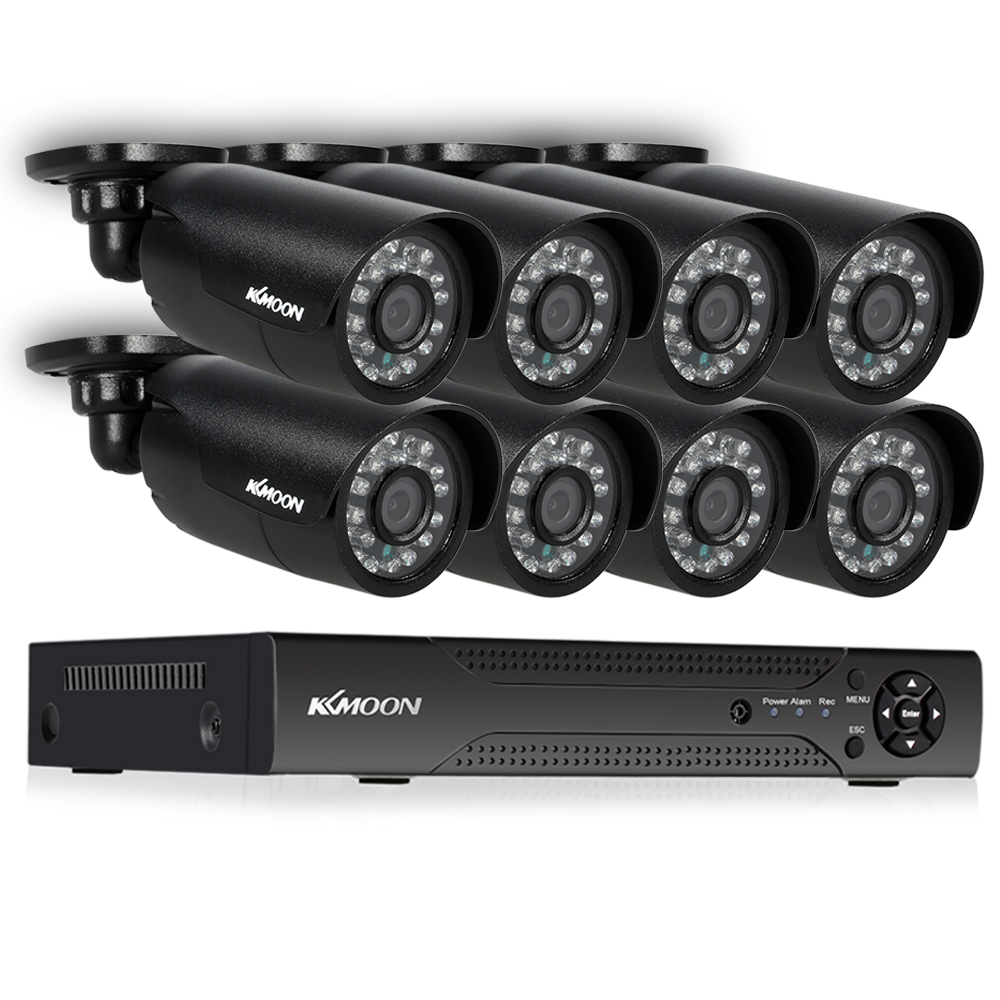 KKmoon 8CH CCTV Security System kit 1080P 5 in 1 Digital Video Recorder 8 720P AHD