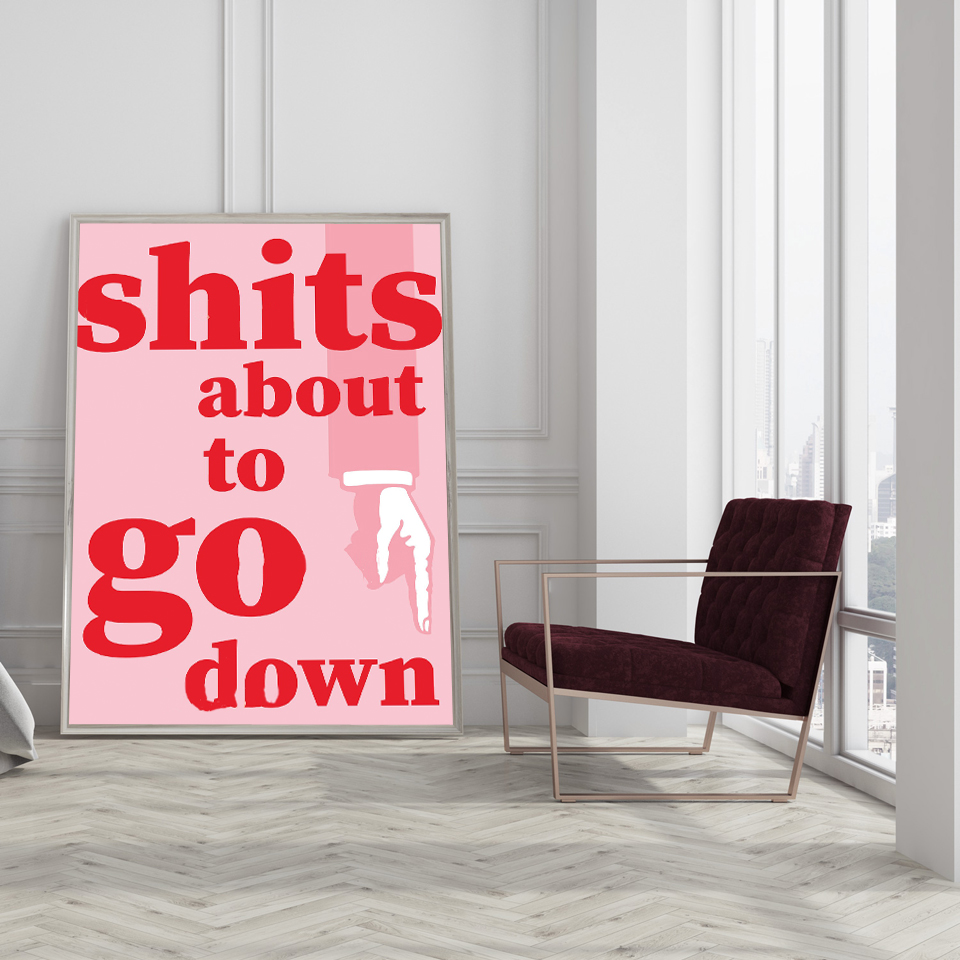 Toilet Wall Art Us 5 12 22 Off Get Shit Done Life Motto Canvas Paintings Pink Typography Posters And Prints Toilet Wall Art Pictures Modern Home Office Decor In