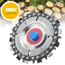 New Carbide 4 14 Teeth Chain Disc 16mm Wood Carving for 100 / 115mm Angle Grinder Plate Grinding Cutting Tools