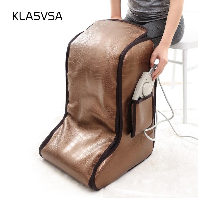 KLASVSA Electric Heating Natural Tourmaline Foot Massage Far Infrared Therapy Back Waist Leg Massager Negative Anions