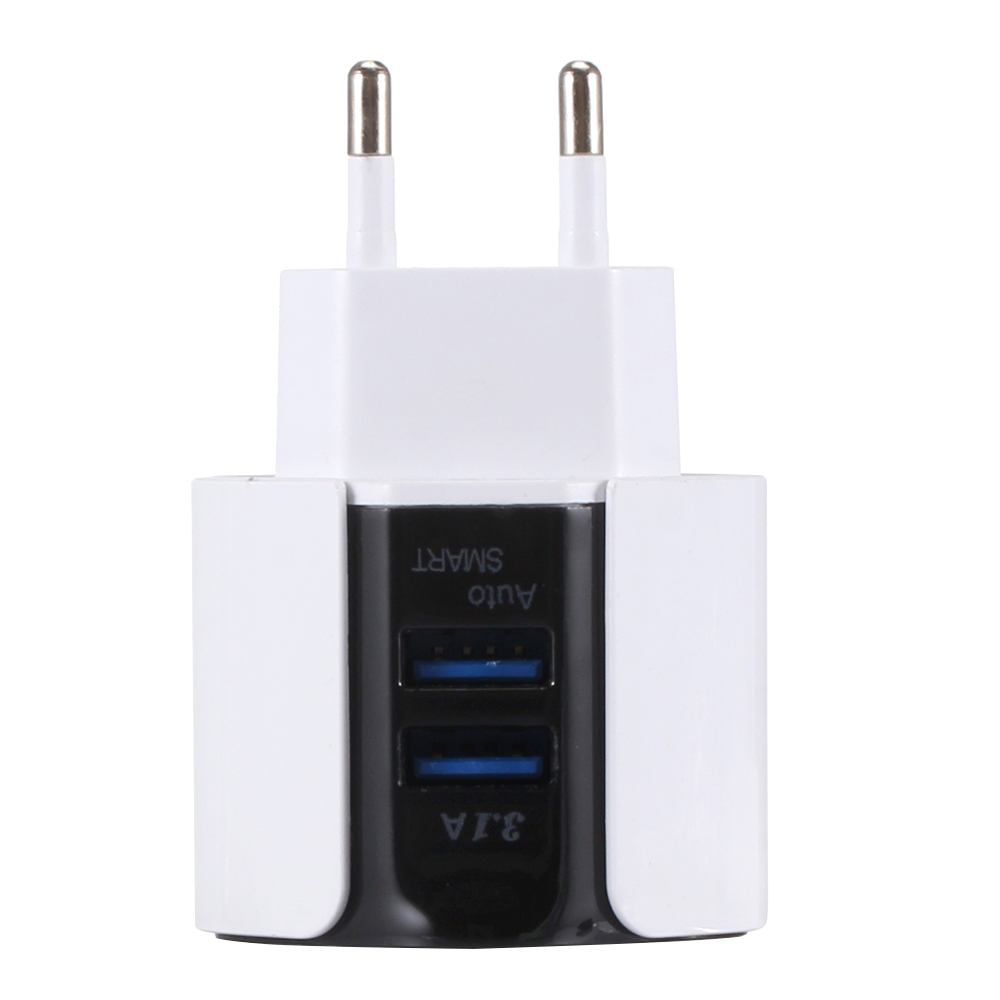 Inventive 3.1a Dual Usb Blue Led Light Phone Charger Adapter Wall Mobile Phone Charger Travel Adapter For Iphone Samsung Eu Plug Consumer Electronics
