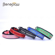 Benepaw Durable Personalized Dog Collar 5 Colors Environmentally Friendly Nylon Puppy Dog Collar Reflective Dog Accessories