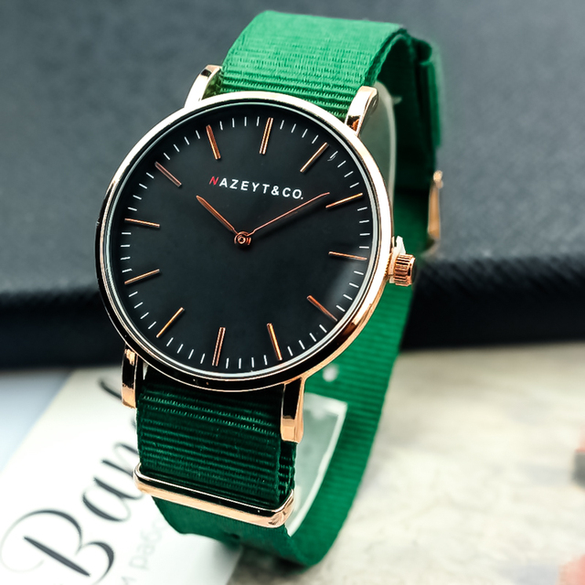 2331b4806889 2019 new fashion men watch luxury brand Nazeyt high quality green strap  nylon male casual quartz