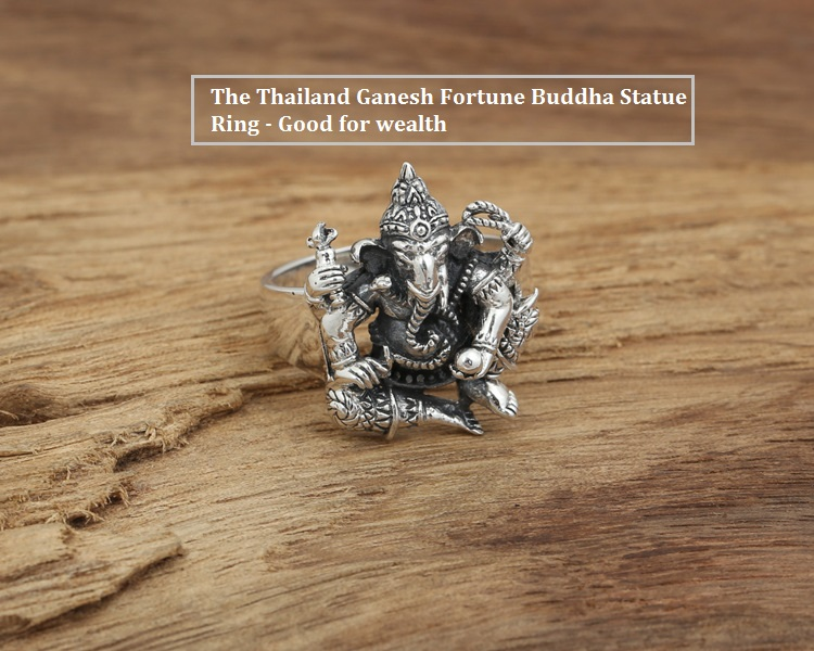 Image 2 - Handmade 925 silver ring elephant fortune buddha finger ring  vingtage sterling silver good luck ring Thailand Ganesh ringfinger  ringjewelry rings925 silver ring