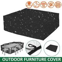 2 Sizes Outdoor Furniture Cover Garden Furniture Waterproof Protector Rain Snow Chair Dust Cover Table Sofa All Purpose Cover