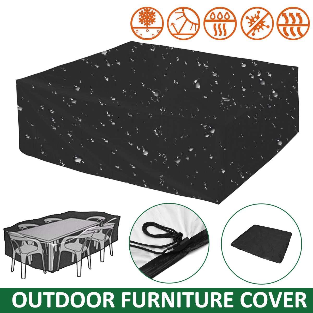 Net 2 Maten Outdoor Meubilair Tuinmeubelen Waterdicht Protector Regen Sneeuw Stoel Stofkap Tafel Sofa All-purpose Cover