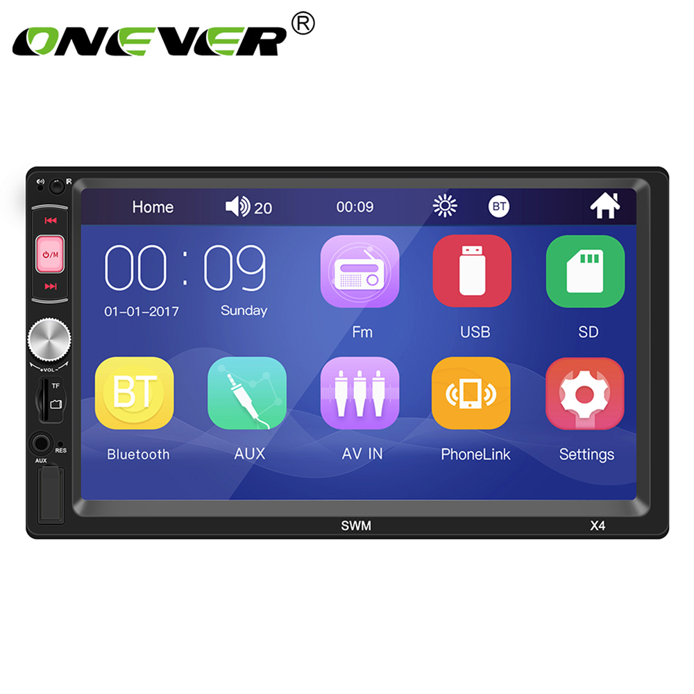 X4 7 Inch HD touch Screen 4 channels Bluetooth Car Mp5 Player reversing car player Supporting