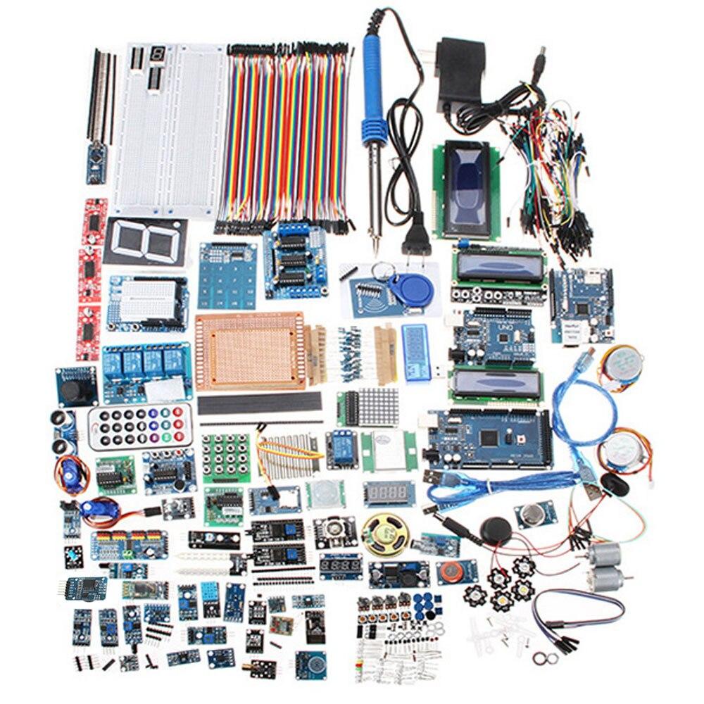 Para UNO Mega para Nano Relé Sensor De bluetooth Wifi LCD Versão Iniciante Starter Kits Para Arduino Sem Bateria