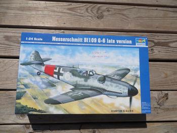 Trumpeter 02408 1/24 German Messerschmitt BF109 G-6 Fighter Aircraft Plane Model