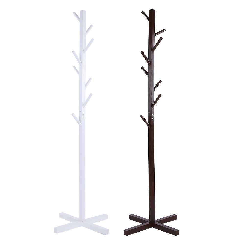 Tree Style Wooden Cloth Hat Coat Rack Stand Standing Hanger Floor Stand Durable Home Furniture Clothes Hanging Storage Rack