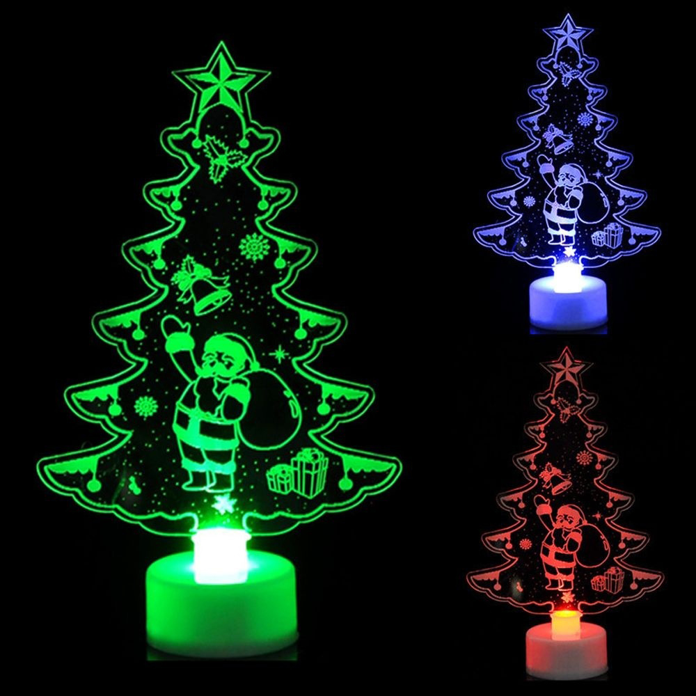Colorful Christmas Lights On House.Us 1 34 7 Off Colorful Led Decorative Lights New Year S Products Christmas Tree Snowman Santa Claus Decorations Party Supplies Home Decor In Pendant