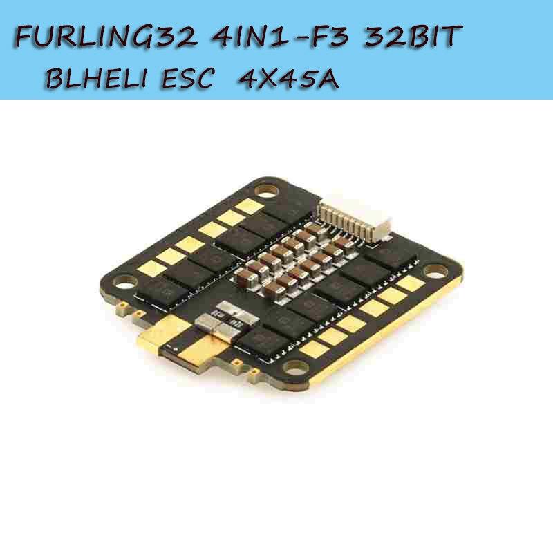 Airbot Furling 32 4in1 BLHELI_32 3-6 S 4x45A sans balais ESC & w/F3 MCU ADC capteur de courant ESC pour RC Drone FPV quadrirotor pièces