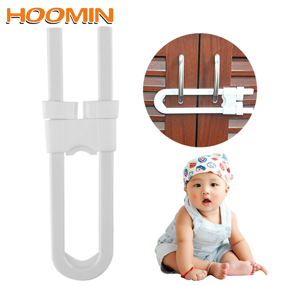 HOOMIN U Shape Baby Safety Lock Prevent Child From Opening Drawer Cabinet Door Protection Lock Children Safety LockHOOMIN U Shape Baby Safety Lock Prevent Child From Opening Drawer Cabinet Door Protection Lock Children Safety Lock