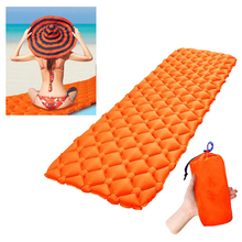 Outdoor Inflatable Sleeping Pad Fast Filling Air Moistureproof Camping air sofas Mat Cushion