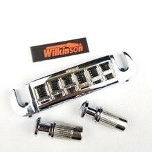 Wilkinson Ayarlanabilir Silme LP Elektrik Gitar Köprüsü Tailpiece Krom Gümüş WOGT3