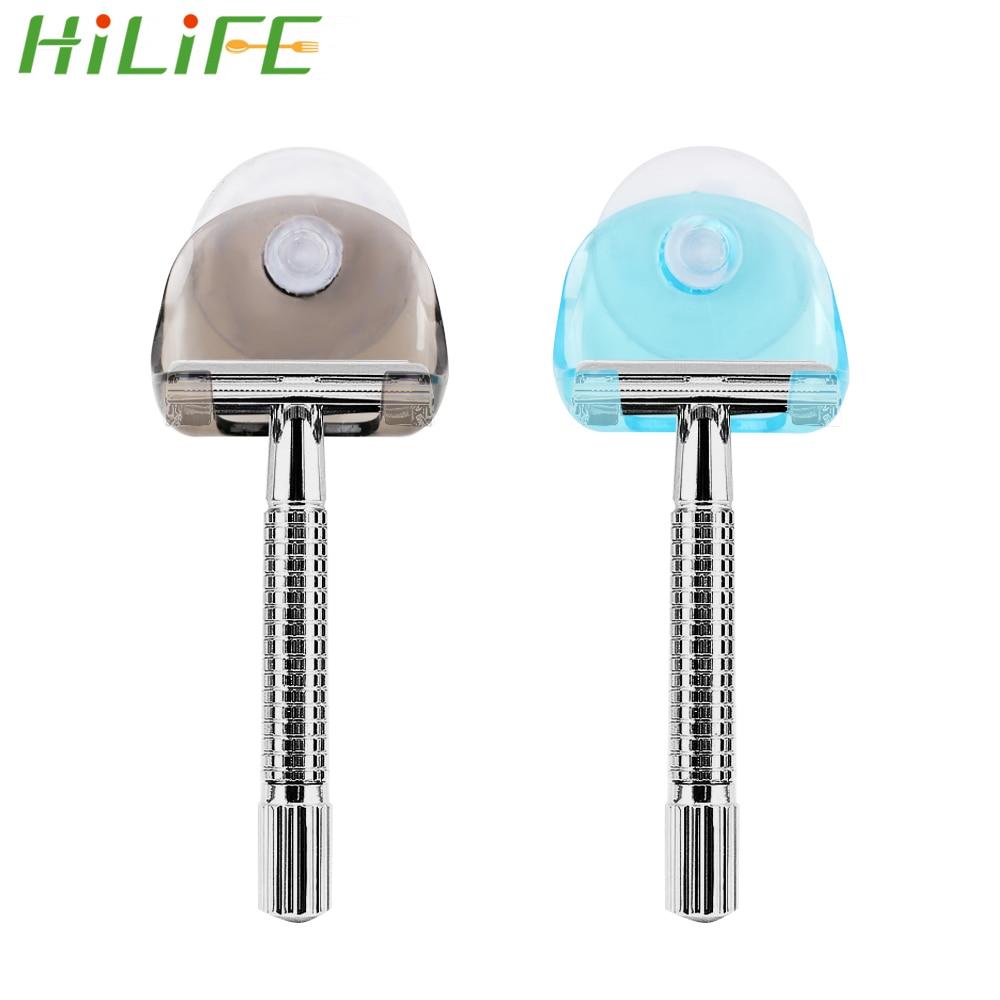 HILIFE Wall Storage Hooks With Super Suction Cup Organizer Razor Storage Razor Hanger Holder For Bathroom Shaver Dry Rack