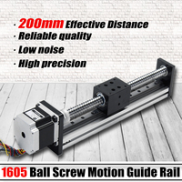 200mm Linear Actuator SFU1605 Ball Screw Motion Guide Rail Aluminum alloy with 57mm Motor for CNC Router