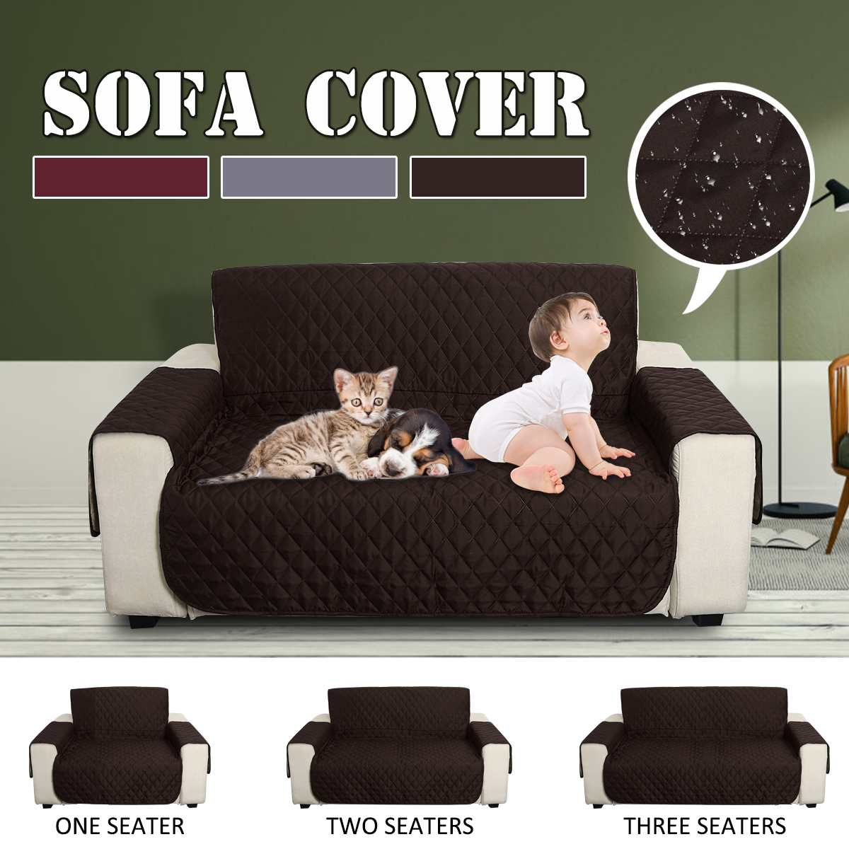 Superb Us 13 19 54 Off 1 2 3 Seaters Sofa Cover Waterproof Quilted Anti Slip Couch Chair Furniture Protector Pad Pet Dogs Slipcovers Mat For Livingroom In Short Links Chair Design For Home Short Linksinfo