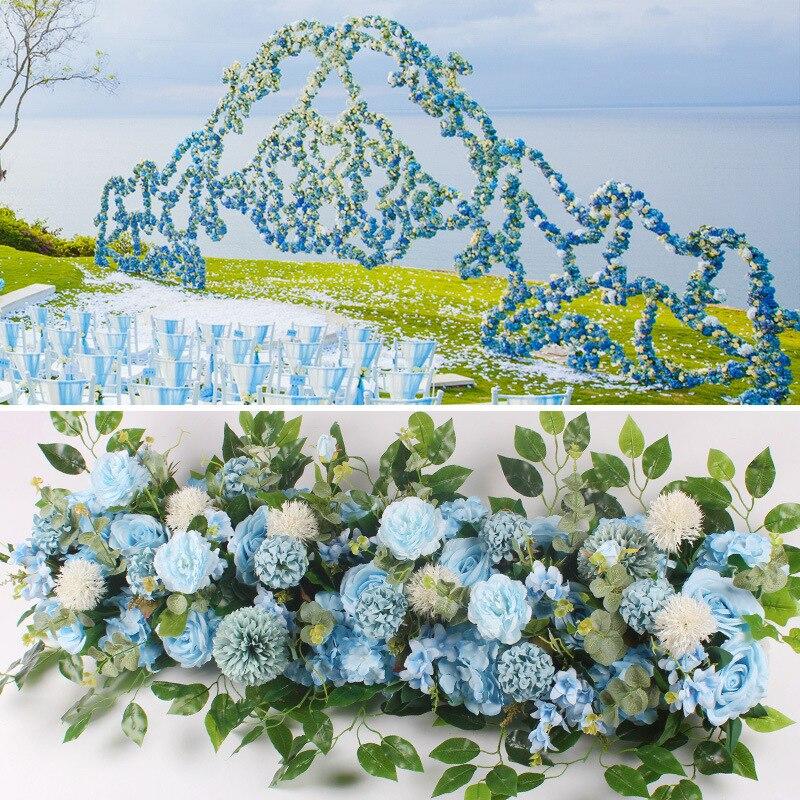 50/100 cm fleur artificielle personnalisé mariage fleur mur arrangement fournitures soie pivoine rangée décor pour T station fer arc toile de fond