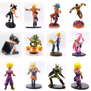 12 Styles Anime Dragon Ball Z Son Goku Burdock Vegeta Buu Boo Gohan Frieza Cell Action Figure PVC Figurine Collectible Model Toy 52styles pvc amine figma mini dragon ball z goku golden frieza great vegeta zamasu ape vinyl action figure collectible model toy