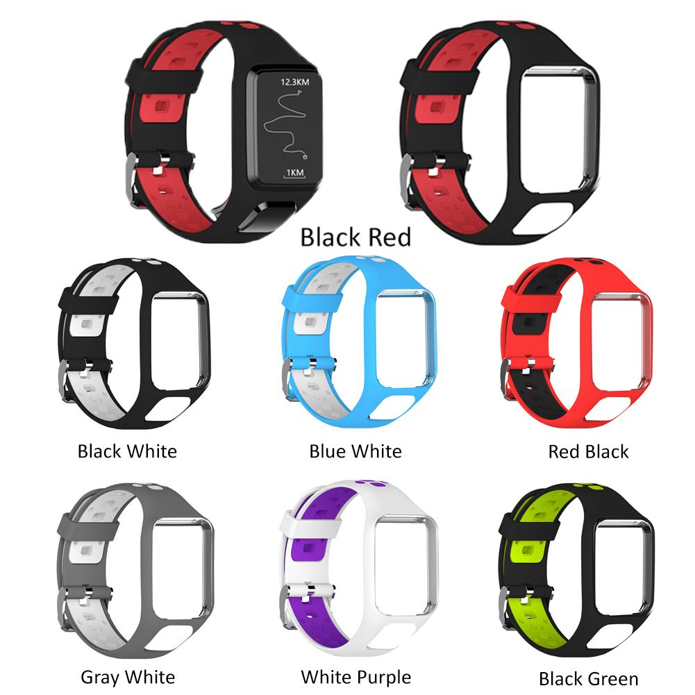 Image 2 - Silicone Replacement Watchband Wrist Band Strap For TomTom 2 3 Runner 2 3 Spark 3 GPS Watch Strap Porous Design Comfortable-in Smart Accessories from Consumer Electronics